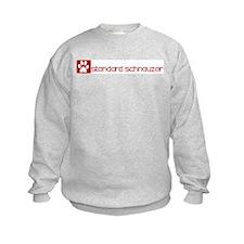 Standard Schnauzer (dog paw r Sweatshirt