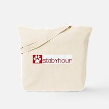 Stabyhoun (dog paw red) Tote Bag