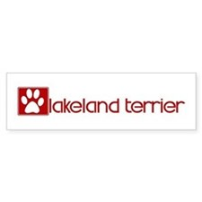 Lakeland Terrier (dog paw red Bumper Bumper Sticker