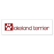 Lakeland Terrier (dog paw red Bumper Car Sticker
