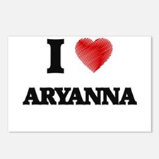 I Love Aryanna Postcards (Package of 8)