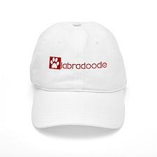 Labradoodle (dog paw red) Baseball Cap