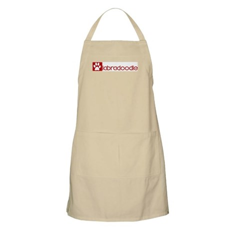 Labradoodle (dog paw red) BBQ Apron