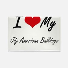 I Love My Jdj American Bulldogs Magnets