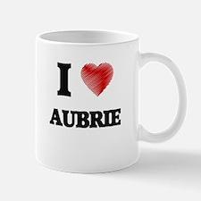 I Love Aubrie Mugs