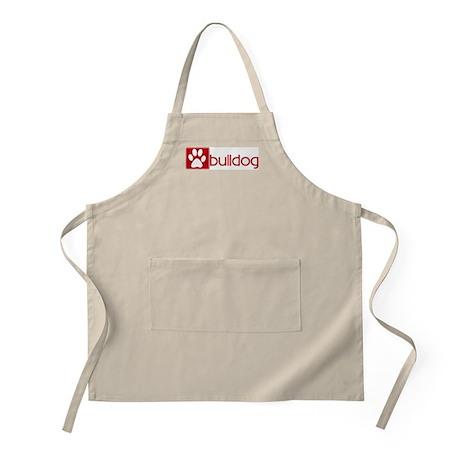 Bulldog (dog paw red) BBQ Apron