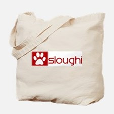 Sloughi (dog paw red) Tote Bag