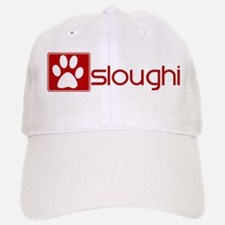 Sloughi (dog paw red) Baseball Baseball Cap