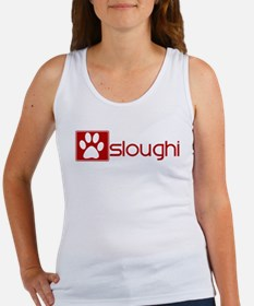 Sloughi (dog paw red) Women's Tank Top
