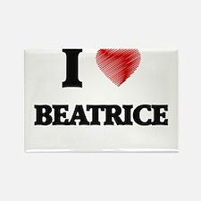 I Love Beatrice Magnets
