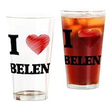 I Love Belen Drinking Glass