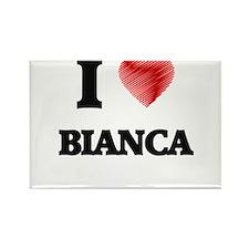 I Love Bianca Magnets