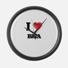 I Love Bria Large Wall Clock