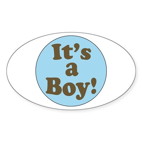 It's a Boy Oval Sticker