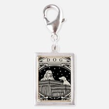 Dog Is My Witness Silver Portrait Charm