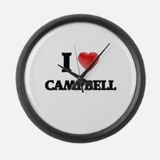 I Love Campbell Large Wall Clock