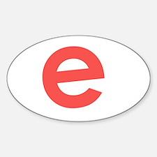 Unique E letter Decal