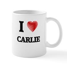 I Love Carlie Mugs