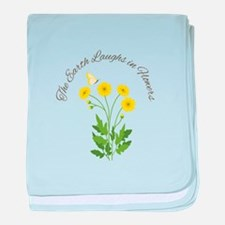 The Earth Laughs baby blanket