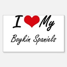 I Love My Boykin Spaniels Decal
