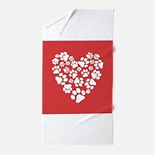 Cute Pet valentines Beach Towel