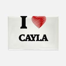 I Love Cayla Magnets