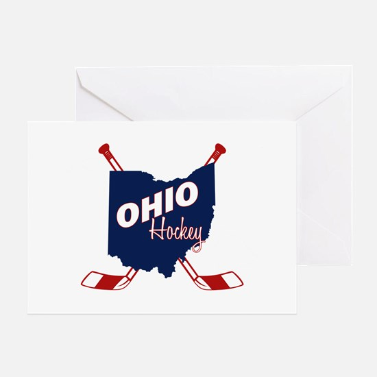 Ohio Hockey Greeting Card