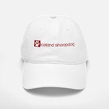 Iceland Sheepdog (dog paw red Baseball Baseball Cap