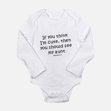 Cute Baby shower thank you Long Sleeve Infant Bodysuit