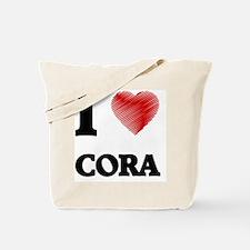 I Love Cora Tote Bag
