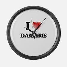 I Love Damaris Large Wall Clock