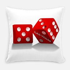 Las Vegas Red Dice Everyday Pillow