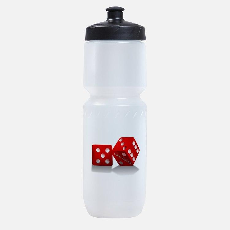 Las Vegas Red Dice Sports Bottle