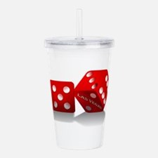 Las Vegas Red Dice Acrylic Double-wall Tumbler