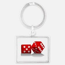 Las Vegas Red Dice Keychains