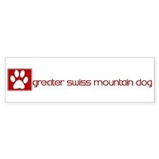 Greater Swiss Mountain Dog (d Bumper Bumper Sticker