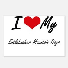 I Love My Entlebucher Mou Postcards (Package of 8)
