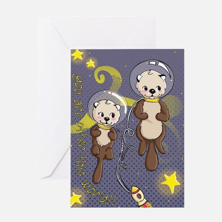 Cute Otter valentines Greeting Card
