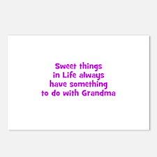 Sweet things in Life always h Postcards (Package o