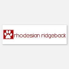 Rhodesian Ridgeback (dog paw Bumper Bumper Bumper Sticker