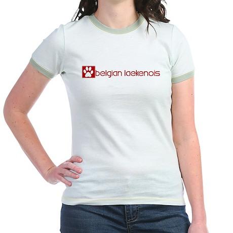 Belgian Laekenois (dog paw re Jr. Ringer T-Shirt