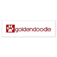 Goldendoodle (dog paw red) Bumper Bumper Sticker