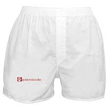 Goldendoodle (dog paw red) Boxer Shorts