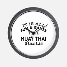 It is all fun and game till Muay Thai Wall Clock