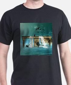 Funny playing dolphins T-Shirt