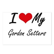 I Love My Gordon Setters Postcards (Package of 8)