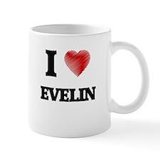 I Love Evelin Mugs