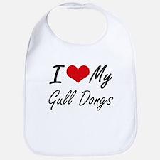 I Love My Gull Dongs Bib