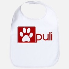 Puli (dog paw red) Bib
