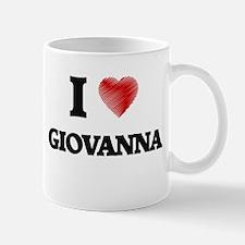 I Love Giovanna Mugs
